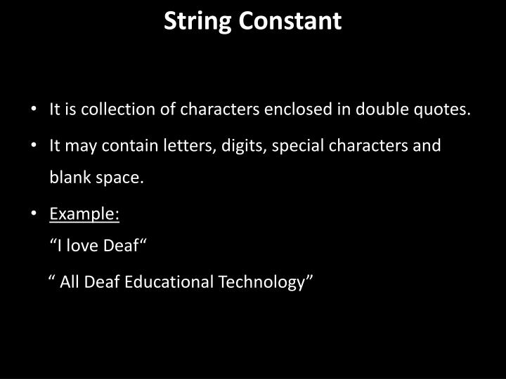 String Constant