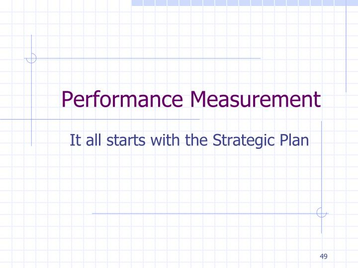 Performance Measurement