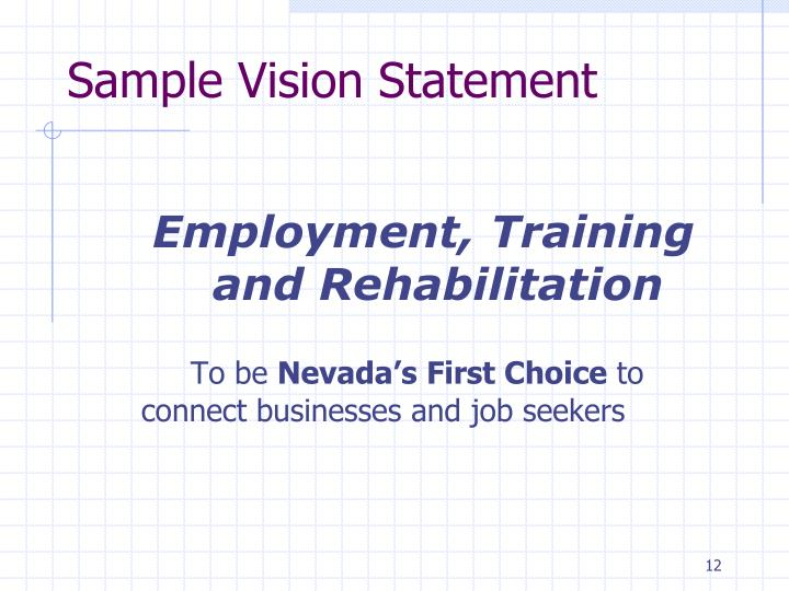 Sample Vision Statement