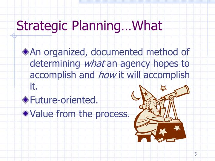 Strategic Planning…What