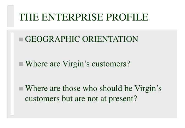 THE ENTERPRISE PROFILE