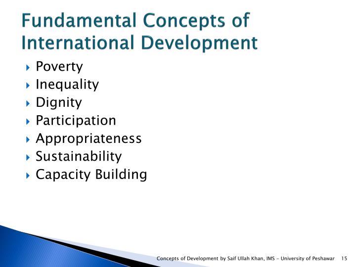 Fundamental Concepts of International Development