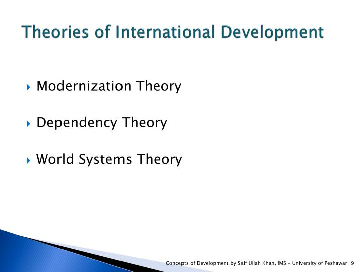 Theories of International Development