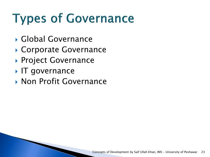Types of Governance