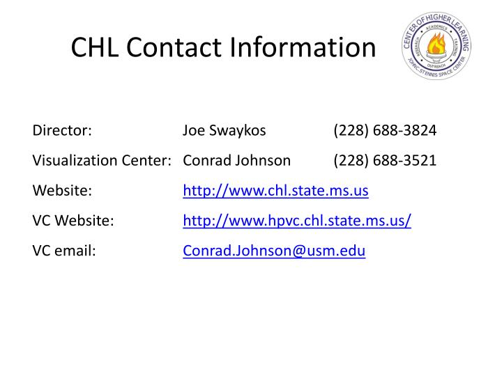 CHL Contact Information