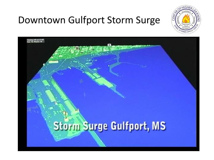 Downtown Gulfport Storm Surge