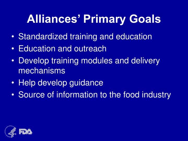 Alliances' Primary Goals