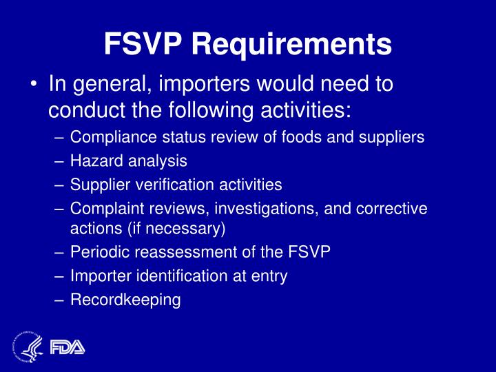 FSVP Requirements