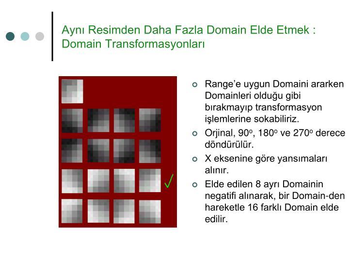 Aynı Resimden Daha Fazla Domain Elde Etmek : Domain Transformasyonları