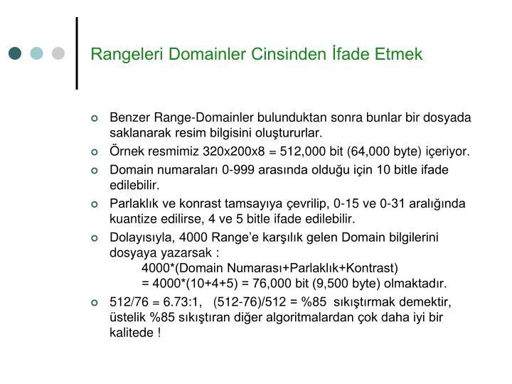 Rangeleri Domainler Cinsinden İfade Etmek