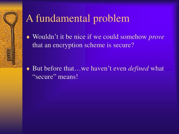 A fundamental problem