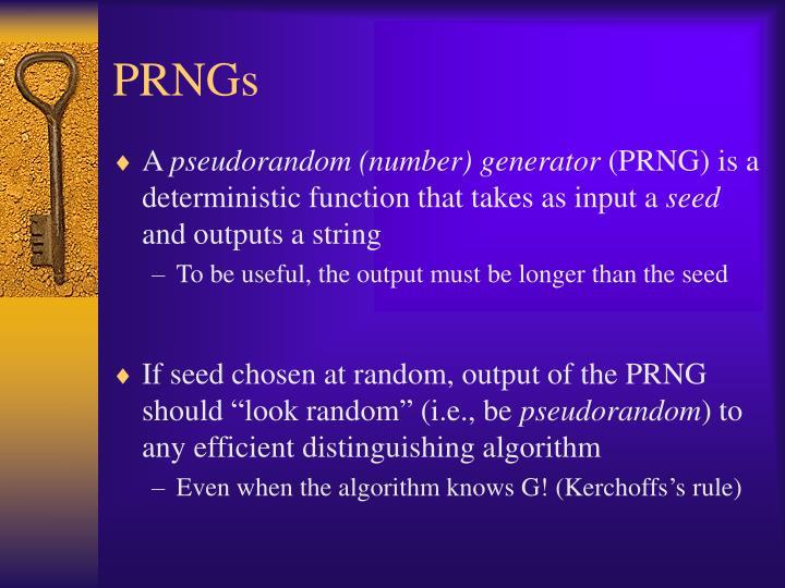 PRNGs