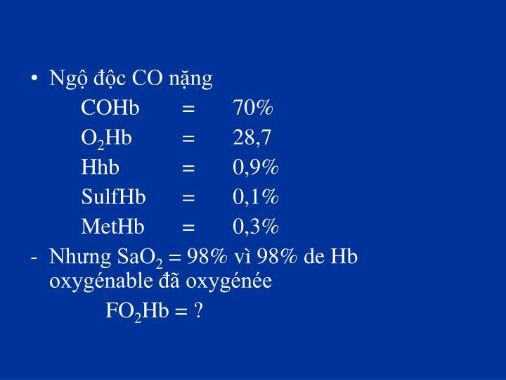 Ngộ độc CO nặng