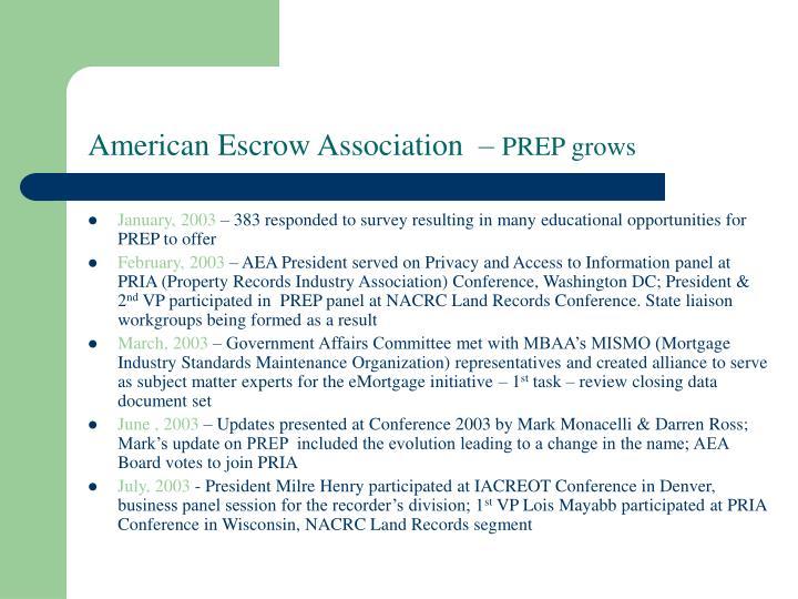 American Escrow Association  –