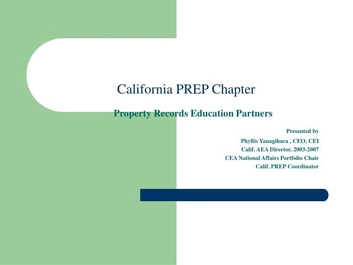 California prep chapter