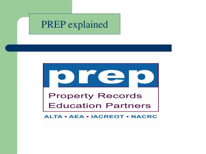 PREP explained