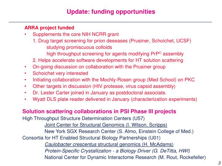 ARRA project funded