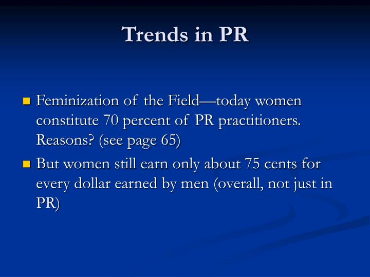 Trends in PR