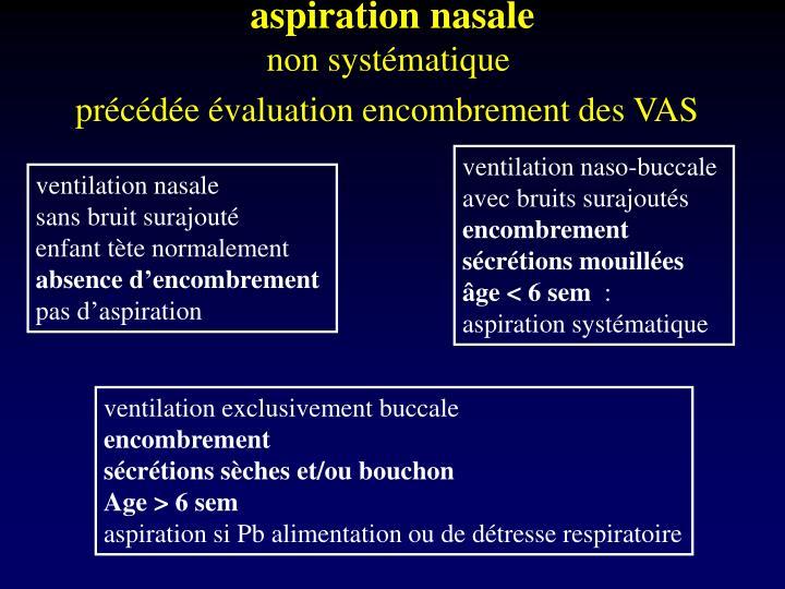 aspiration nasale