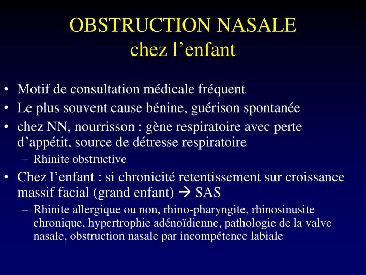 OBSTRUCTION NASALE