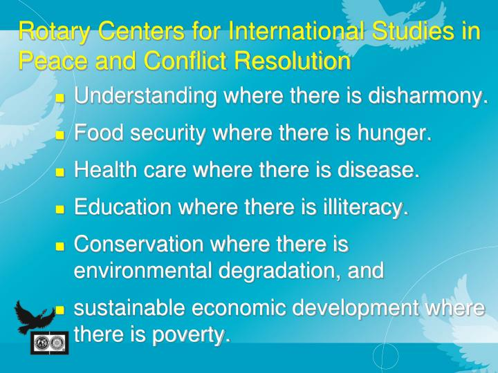 Rotary Centers for International Studies in Peace and Conflict Resolution