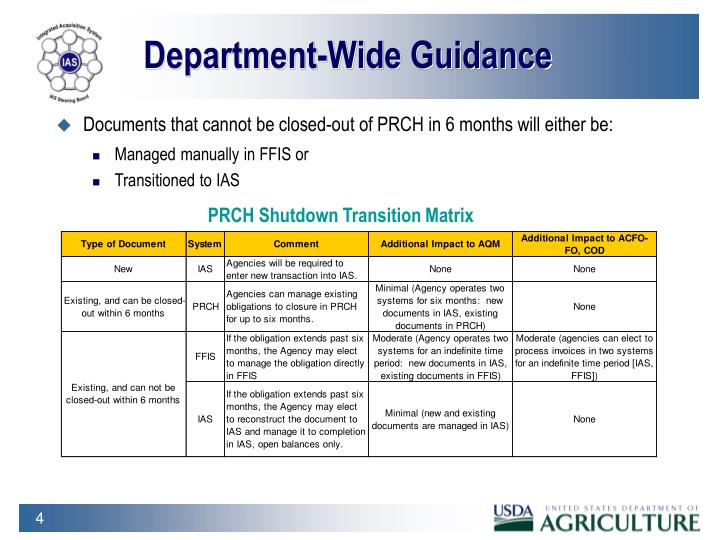 Department-Wide Guidance