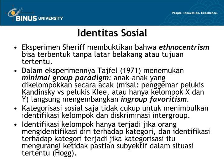 Identitas Sosial