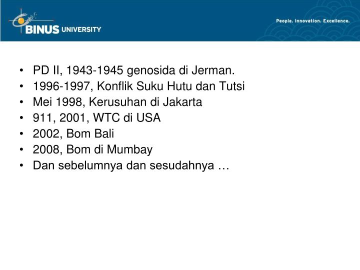 PD II, 1943-1945 genosida di Jerman.