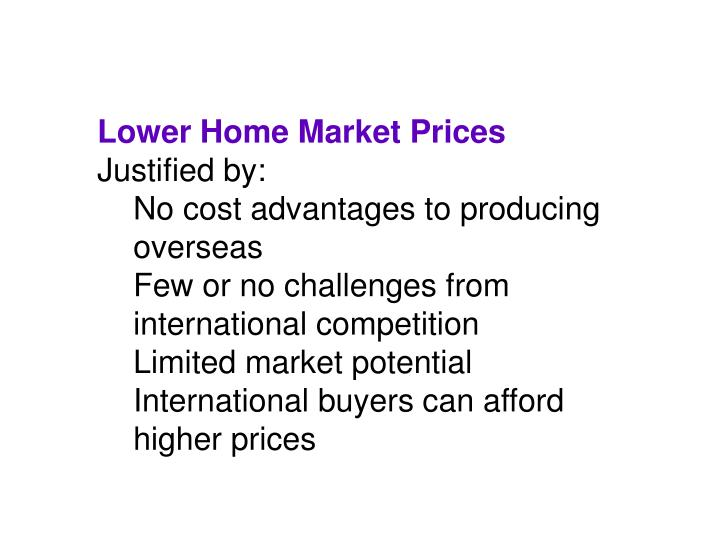 Lower Home Market Prices