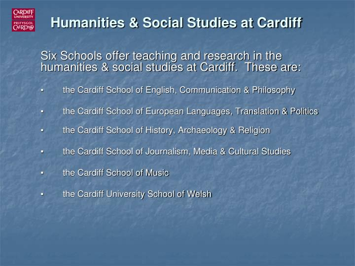 Humanities social studies at cardiff