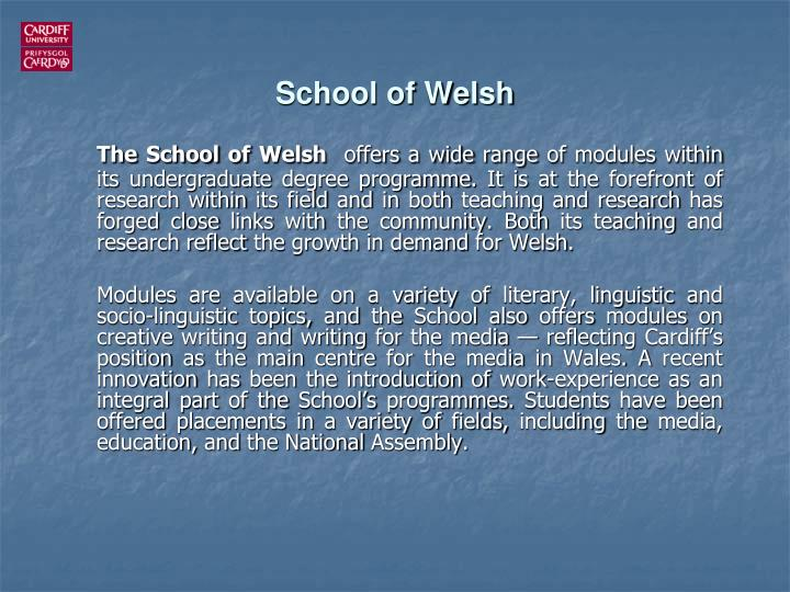 School of Welsh