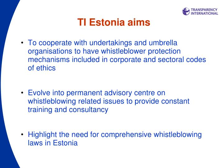 TI Estonia aims