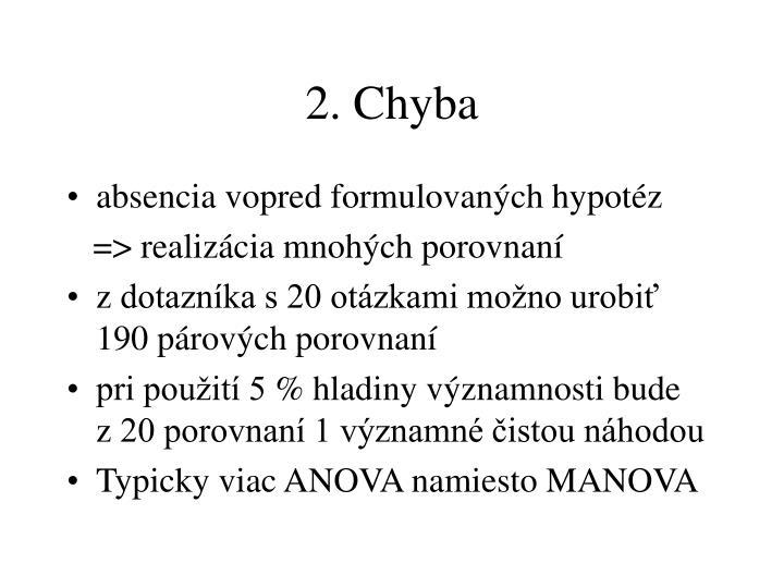 2. Chyba