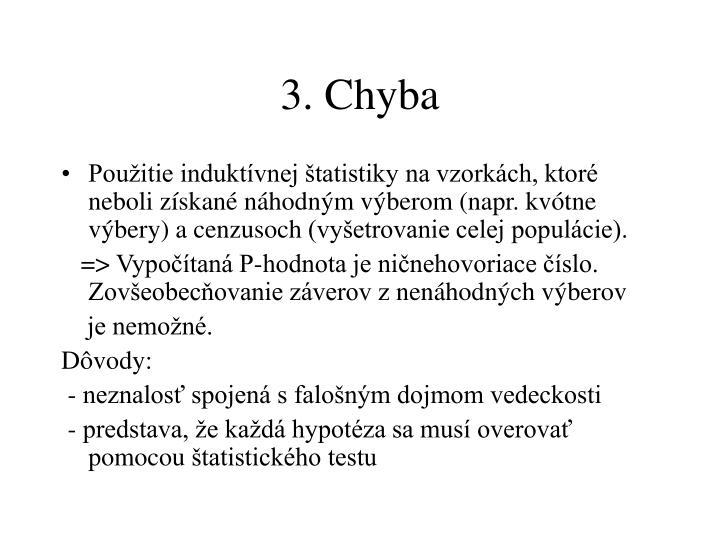 3. Chyba