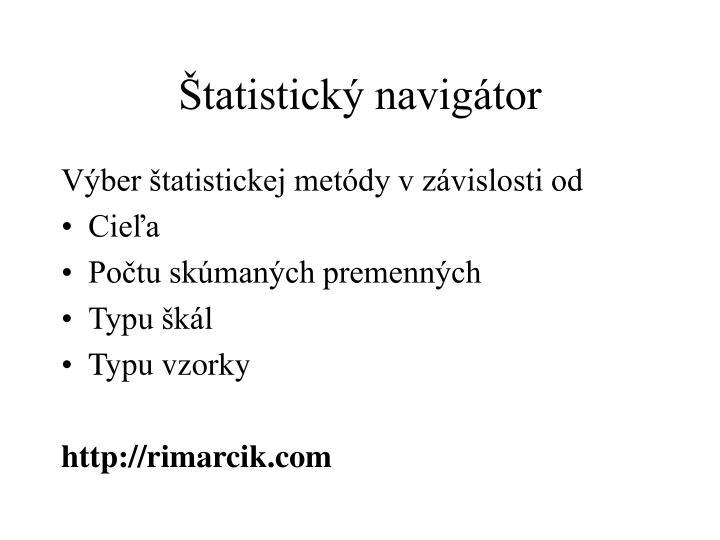 Štatistický navigátor