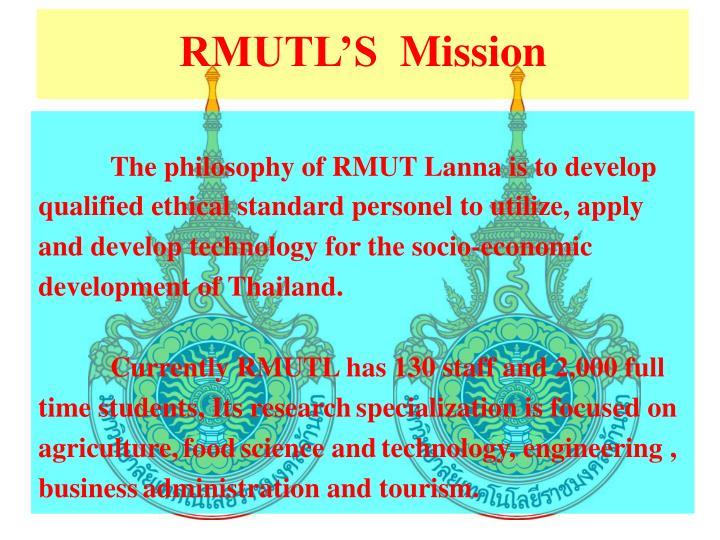 RMUTL'S