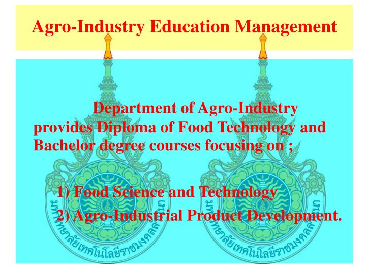 Agro-Industry Education Management