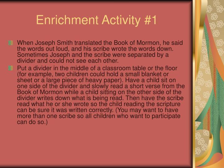 Enrichment Activity #1