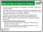 national plan of action for children
