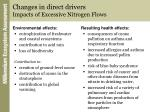 changes in direct drivers impacts of excessive nitrogen flows
