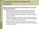 ecosystem services and poverty reduction1