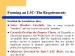 forming an l3c the requirements