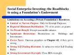 social enterprise investing the roadblocks to using a foundation s endowment