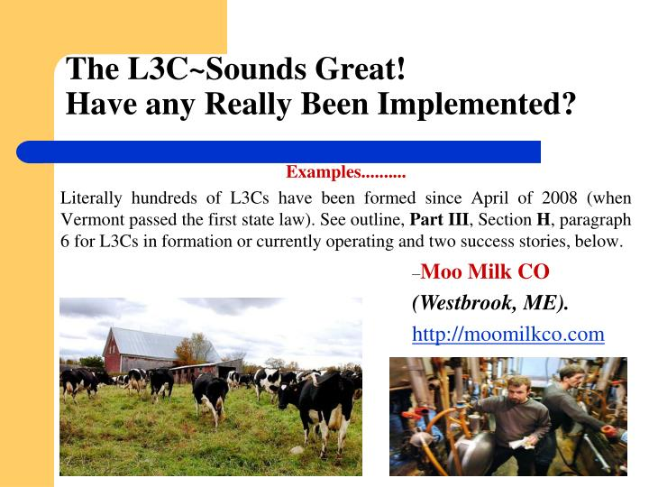 The L3C~Sounds Great!