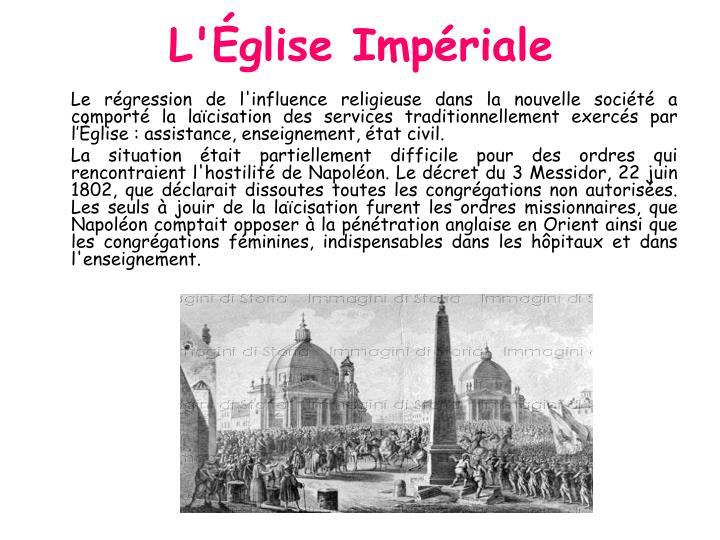 L'Église Impériale