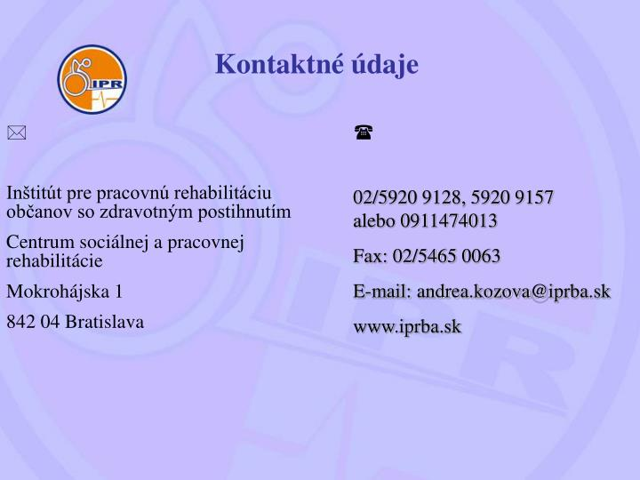 Kontaktné údaje