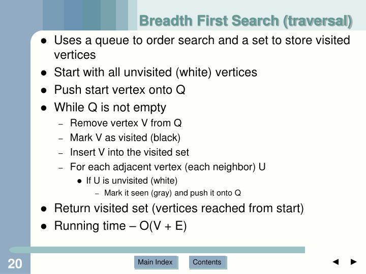 Breadth First Search (traversal)