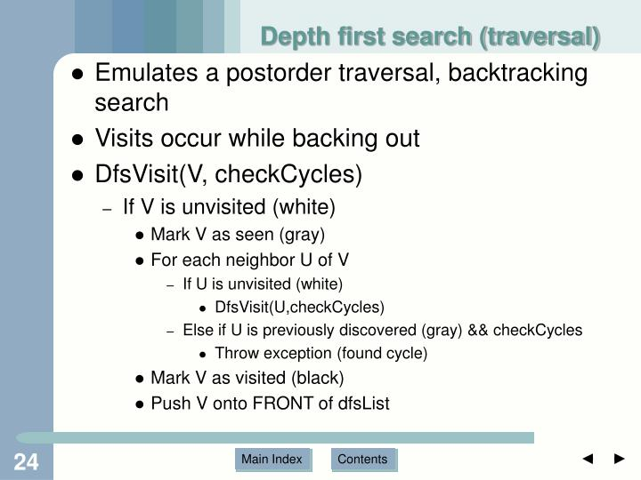 Depth first search (traversal)