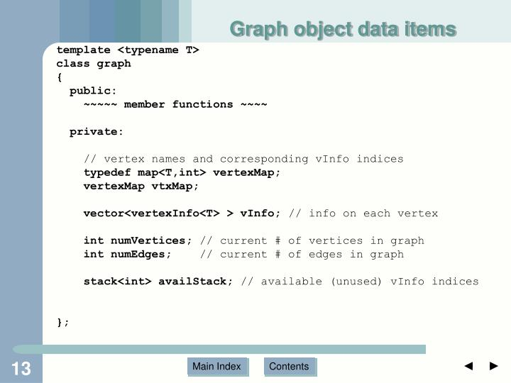 Graph object data items