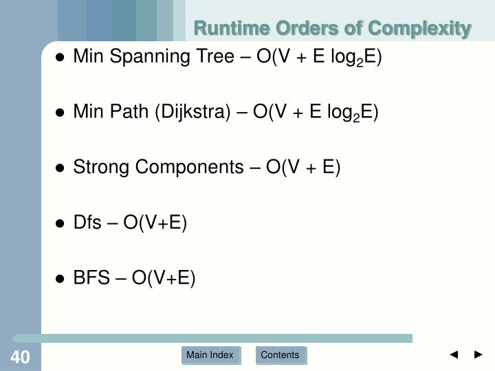 Runtime Orders of Complexity